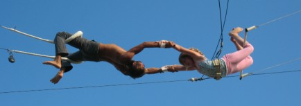 Catch on the flying trapeze